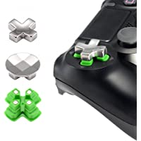 eXtremeRate® Magnetic Metal Mod Button, Adjustable Dpads Replacement Parts for PlayStation 4, PS4 Slim,PS4 Pro Controllers (3 in 1)