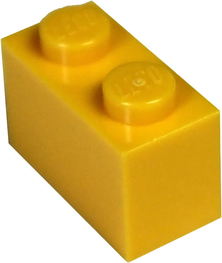 LEGO Parts and Pieces: Bright Light Orange (Flame Yellowish Orange) 1x2 Brick x100