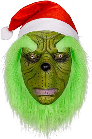 HALLOWEEN ADULT CHRISTMAS SANTA GRINCH HORROR  MASK PROP