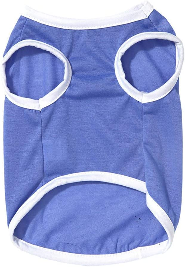 Spring Summer Thin Cotton Birthday Day Vest Breathable Sleeveless T-shirt Harmless Bebliss Pet Costume Dog Cat Clothes No Formaldehyde