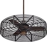 32″ Vintage Breeze Bronze-Black Cage Ceiling Fan Review