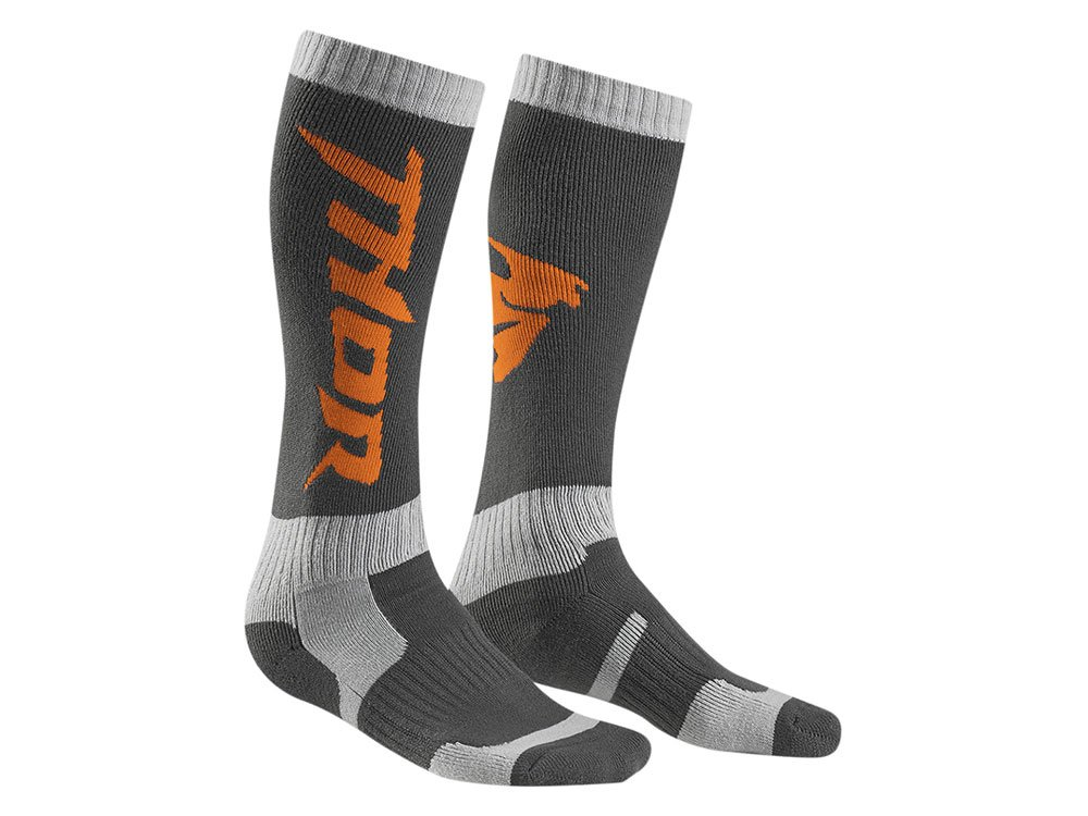 Taille 6-9 Thor Chaussettes Cross Mx Gris//Orange