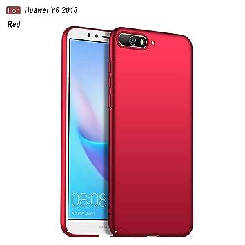 MYLBOO Funda Huawei Y6 2018, Huawei Y6 2018 Contraportada [Ultra-Fina] [Anticaída] [A Prueba de Golpes] Estuche rígido de plástico Duro para Huawei Y6 ...