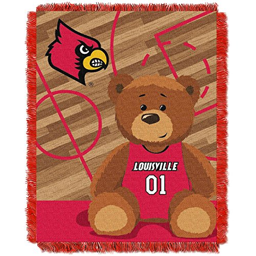 (The Northwest Company Louisville Cardinals Fullback Baby Triple Woven Jacquard Throw )