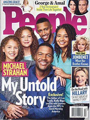 People Magazine  October 3  2016   Cover  Michael Strahan   Children