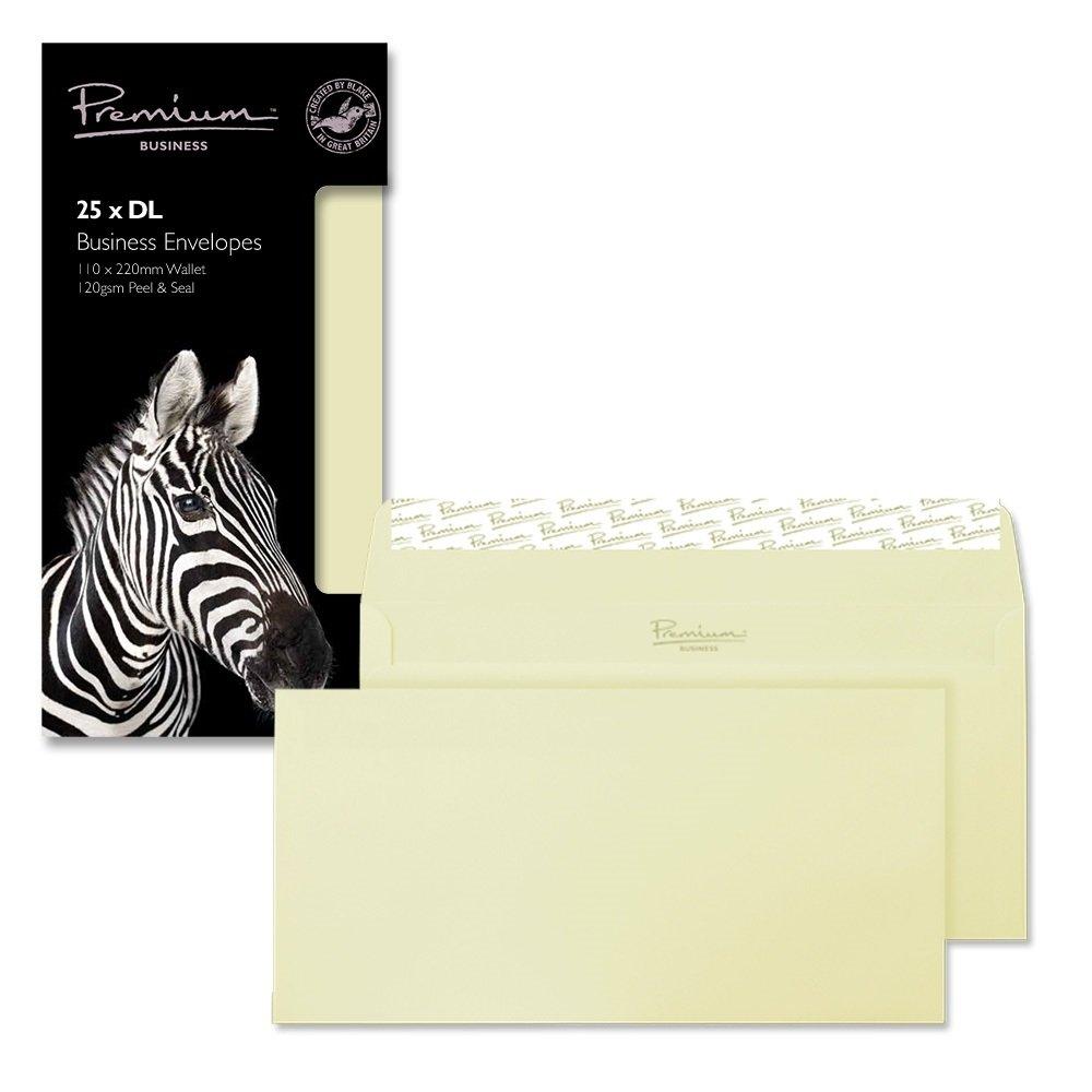 Blake Premium Business-Buste con chiusura adesiva, formato C5, 162 x 229 mm, 120 g/mq, effetto pergamena, confezione da 25 pezzi 51454