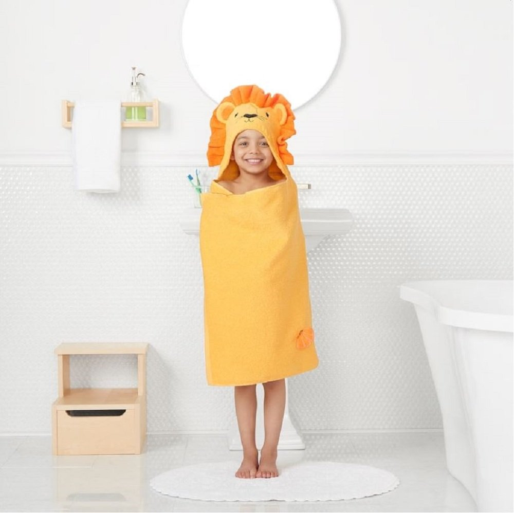 Jumping Beans Lion Hooded Bath Towel Wrap (25'' x 50'')