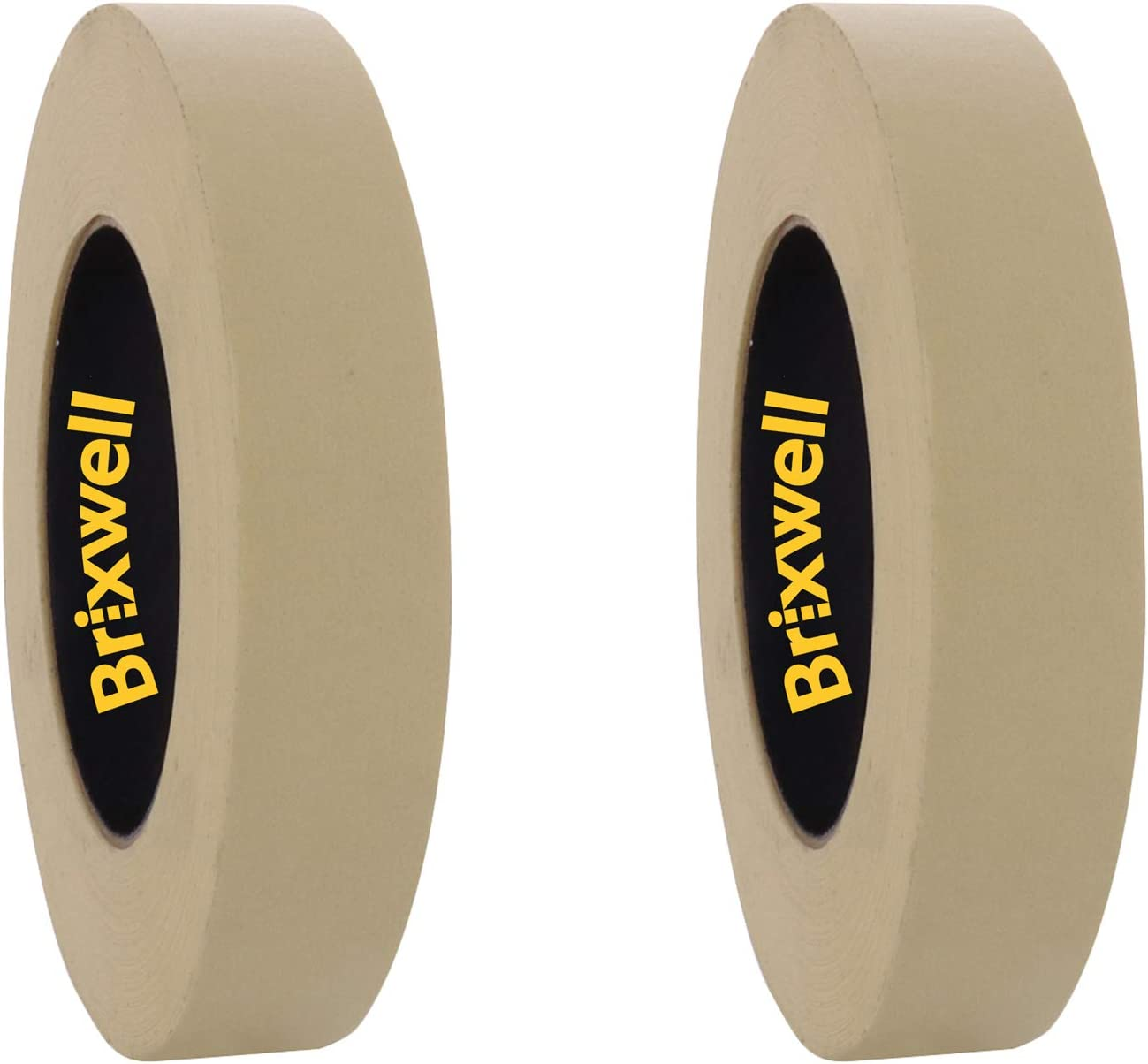 Brixwell 3 Rolls Pro Grade General Purpose Masking Tan Tape 3 Inch x 60 Yard Made in the USA
