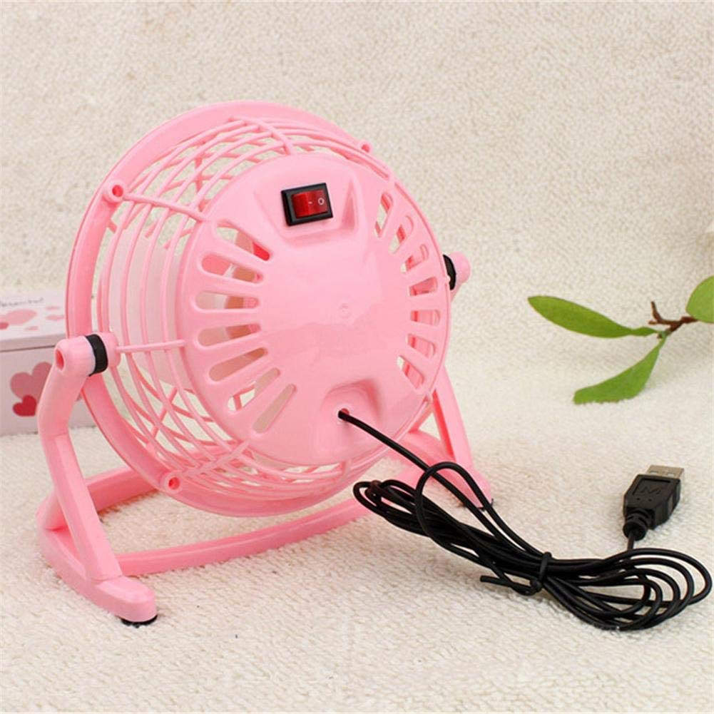 PrinceShop Ultra Quiet Mini 4 Inch USB Fans Plastic Portable Small Desk Fan Powerful Wind For Office Desk