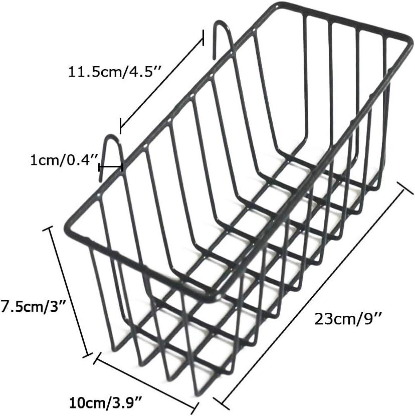 ANZOME Korb f/ür Gitter Pinnwand K/üche DIY Multi-Funktion Wandgitter Dekoration und Anzeige Allzweckkorb H/ängenimhaus B/üro 19 x 11.5 x 15 cm Schwarz