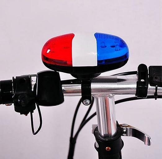 Las Bicicletas De Montaña 4 Timbre Eléctrico Sonido Del Cuerno Electrónico De Campana De La Bicicleta Campanas De Alarma De Sonido Multi-tono Rojo Blanco Y Azul: Amazon.es: Jardín