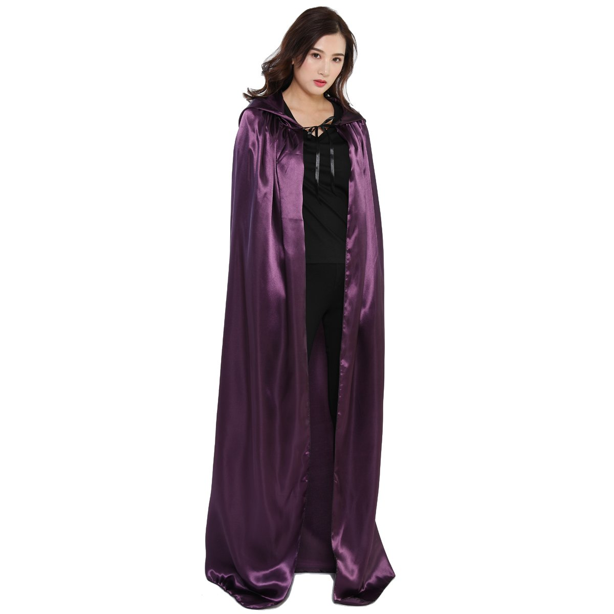 WESTLINK Cloak with Hood Costume Hooded Cape for Men Women 43-66inches