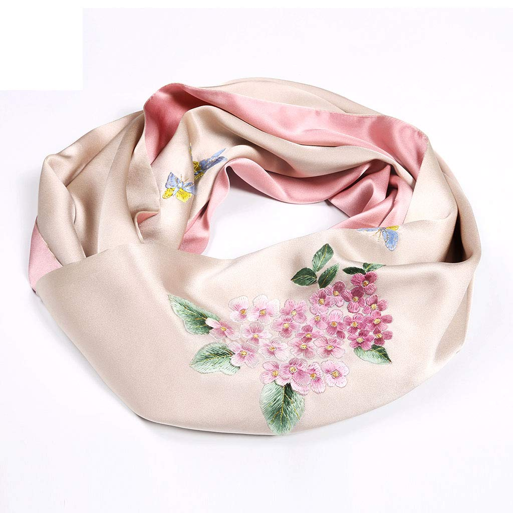 D Stoles Scarf Silk Shawl Scarf Silk Embroidery Shawl Spring and Autumn Winter Shawl Scarf Ladies (color   H, Size   155  35cm)