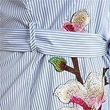 Dress,Han Shi Women Floral Print Striped Long