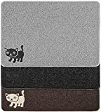 "Smiling Paws Pets Premium Cat Litter Mat, BPA Free, XL Size 35""x23.5"", Non-Slip - Tear & Scratch Proof, Easy to Clean Kitty Litter Catcher with Scatter Control (Extra Large Gray)"