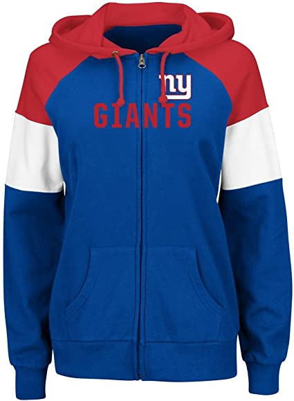 New York Giants Womens Pullover Sweatshirt