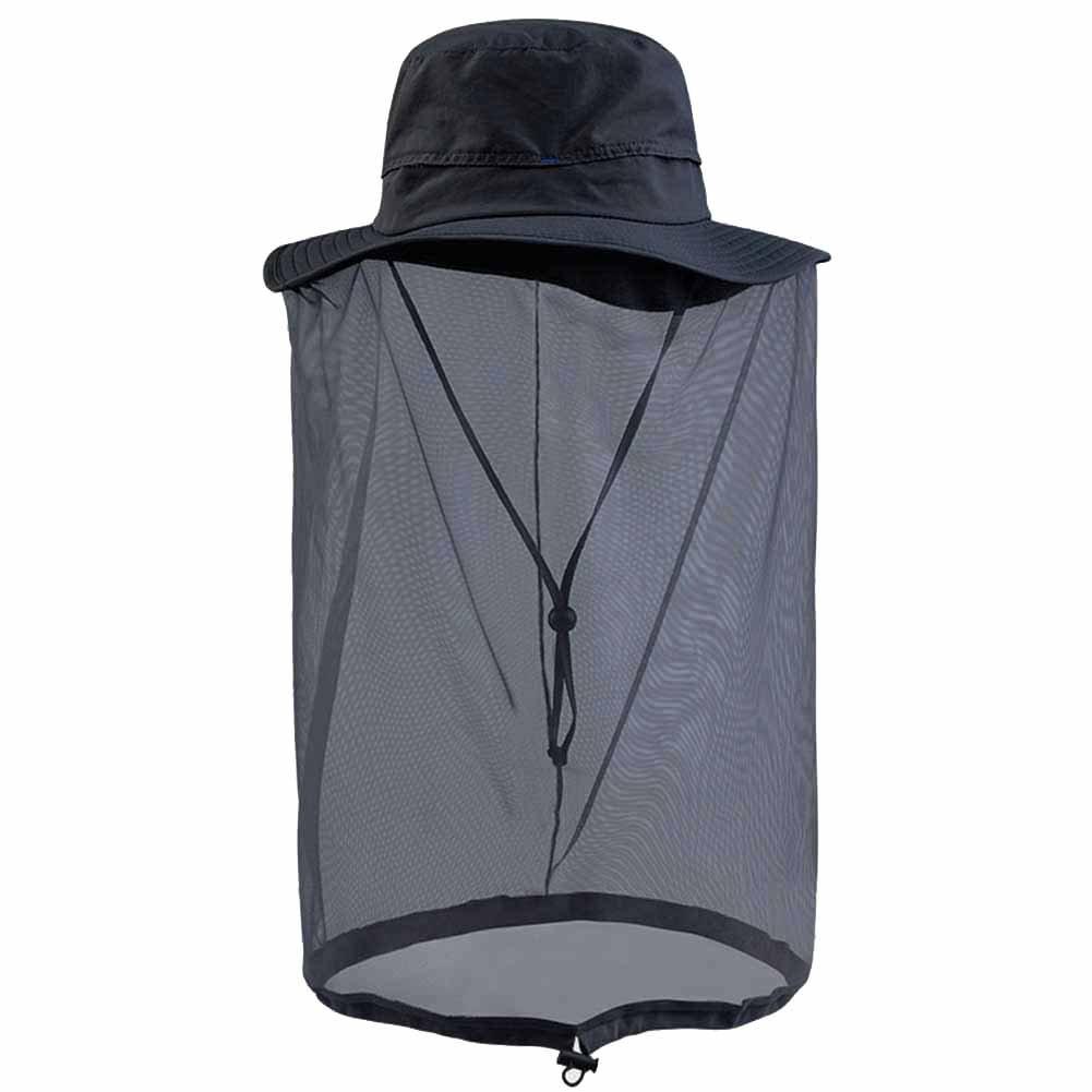 Omonic al Aire Libre Pesca Anti UV Mosquito Bee Bug Insectos Volar má scara Gorro Gorra con Cabeza Malla protecció n Facial Protector Solar, Army Green