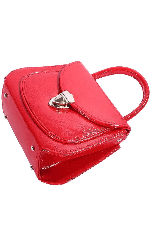 cf74663aa1fcf SugarShock Damen 50er Jahre pin up rockabilly oldschool Schnallen  Köfferchen Handtasche rot  Amazon.de  Schuhe   Handtaschen