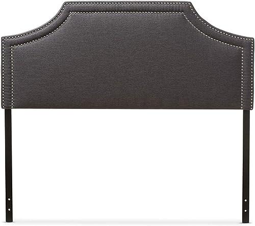 Baxton Studio Avignon Modern And Contemporary Fabric Upholstered Headboard Grey/King/Contemporary