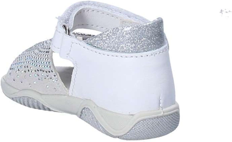 Primigi 1362600 Bianco Scarpe Sandalo Bambina Tallone Strappi Strass Bianco