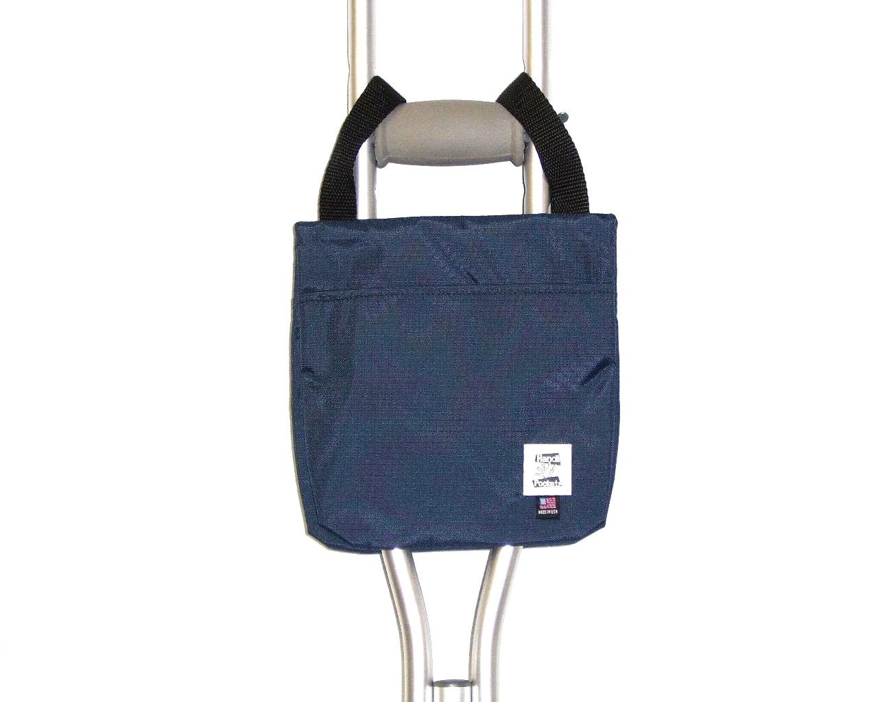 Handi Pockets 1a4nb Storage Accessory Crutch, Nylon, Navy Blue