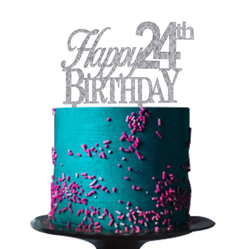 Amazing Happy 24Th Birthday Cake Topper For 24Th Birthday Cake Topper Funny Birthday Cards Online Kookostrdamsfinfo