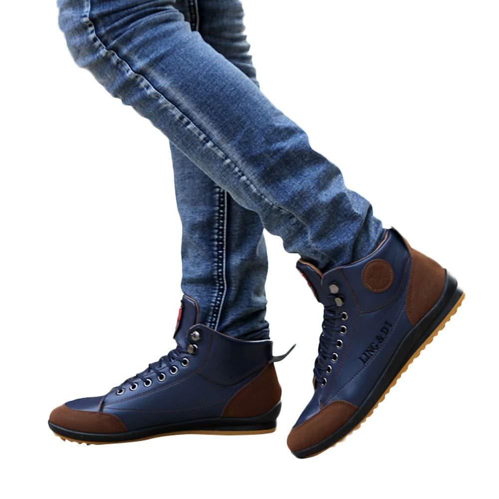 BBestseller-Zapatos de Hombre,Casual Alta Ayuda Zapatillas Deportivas Retro Calzado Resistente Desgaste Antideslizante Sneakers