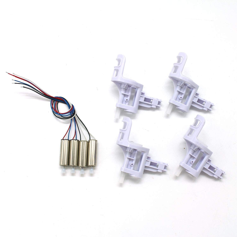 GreceMonday 2 Coppie Drone Motore Motori con 4 Pezzi del Motore Coperchio della Base per SYMA x5C x5C-1 X5 RC Quadcopter Accessori
