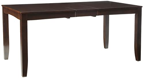 Lynfield Rectangular Dining Table 36 x66 with butterfly leaf in Cappuccino Finish