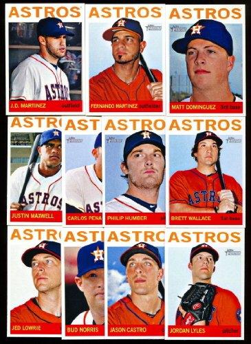 Team Collection Basics (2013 Houston Astros Topps Heritage Baseball Complete Mint 11 Basic Card Team Set)