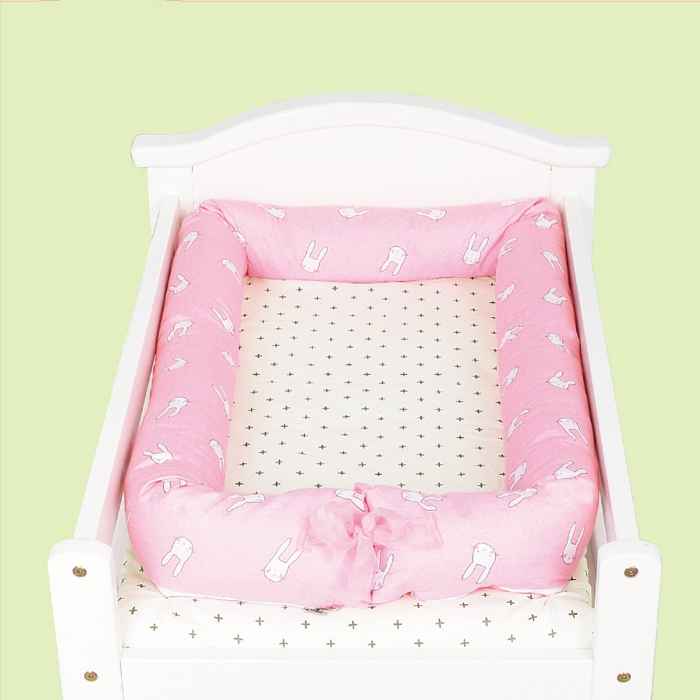 Luerme Baby Pod Nest Soft Pad Baby Cot Bed Secure Sleep Crib with Pillow H