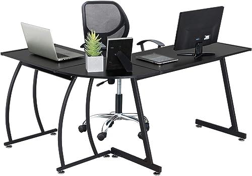 YAHEETECH L-Shape Corner Computer Desk Gaming Corner Desk