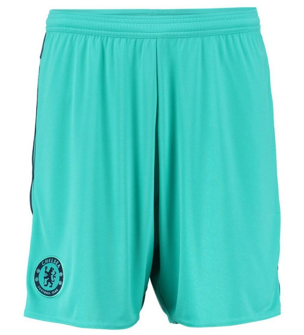 2015-2016 Chelsea Adidas Goalkeeper Shorts (Vivid Mint) B012B3NAP0 Small 32