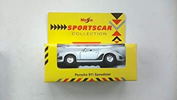 PORSCHE  911 SPEEDSTER  DIECAST MODEL SHELL SPORTSCAR COLLECTION SCALE 1.38