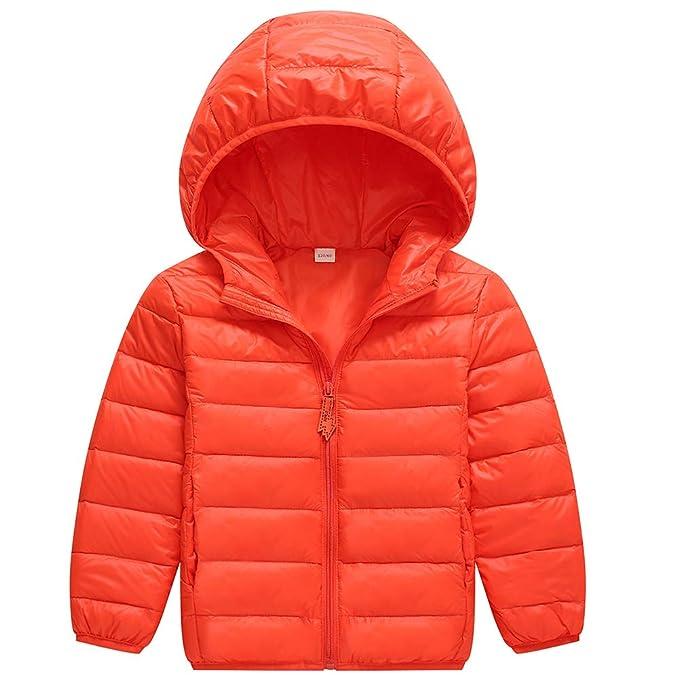KID1234 Jungen Daunenjacke Mädchen Leichte Kapuze Puffer Mantel Kinder Winter Outwear 2 10 Jahre