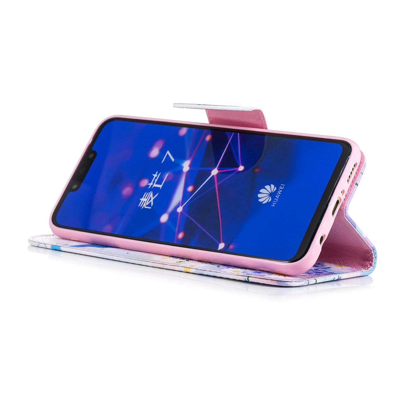 5fd4ed315 Lomogo Funda /[Huawei Mate 20 Lite/], Funda de Cuero con Cartera para  Tarjetas y Cierre Magnetico ...