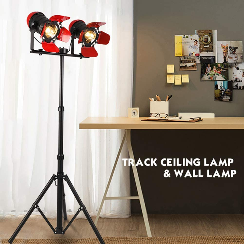 Standing Lamp Industrial Vintage Living Room Floor Lamp LED Iron Reading Light Bedrooms Cafe American Standing Lamp