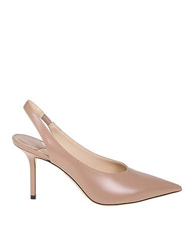 meilleure sélection 6dccd a317a Jimmy Choo Femme IVY85LQU Rose Cuir Chaussures À Talons ...