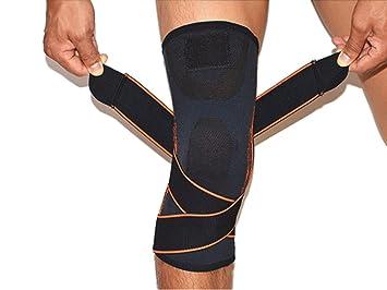 54bebe7d12 Image Unavailable. Knee Brace,Athletics Compression Knee Sleeve with  Pressure Strap ...