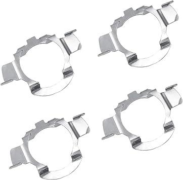 Dedc 4 Stück H7 Led Scheinwerferlampe Halter Adapter Halter Leuchtmittel Projektor Clip Metall Inhaber Adapter Auto