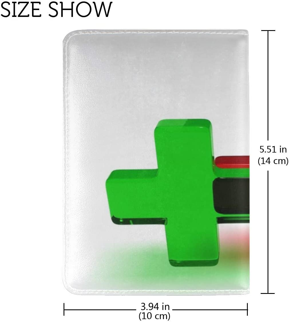JiaoL Cross Colored Glass Leather Passport Holder Cover Case Travel One Pocket