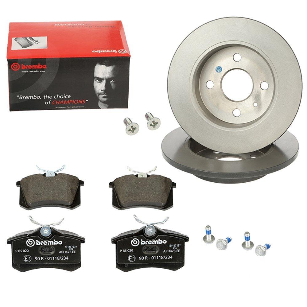 Brembo2 Bremsscheiben COATED DISC LINE Voll Ø288 mm Bremsbeläge Vorne