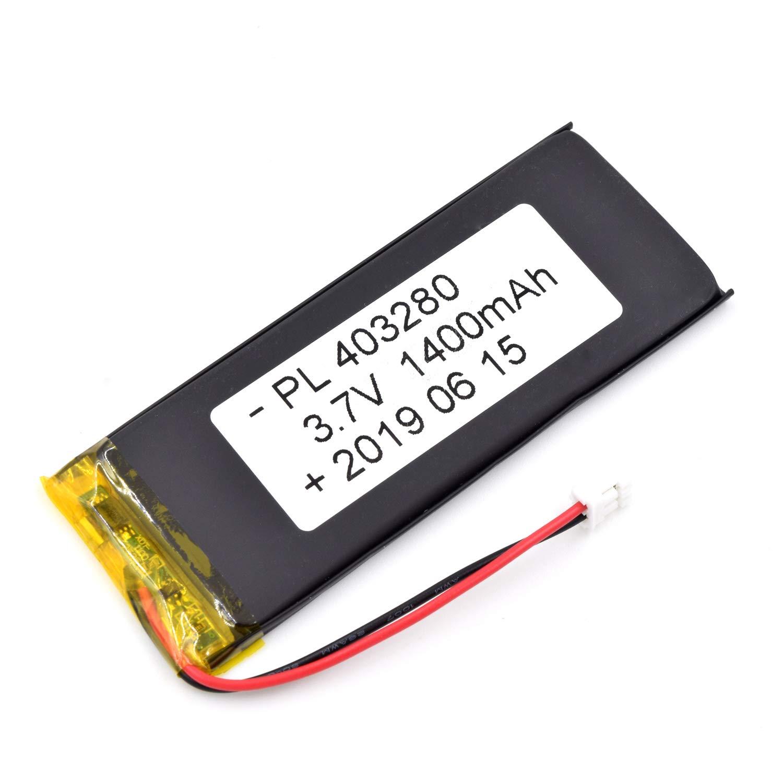 Bateria Lipo 3.7V 1400mAh 403280 Recargable JST Conector