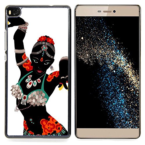 [Stuss Case / Hard Protective Case Cover - Indian Dance Woman Costume Attire Art - Huawei Ascend P8 (Not for P8] (Dance Fantastic Costumes)
