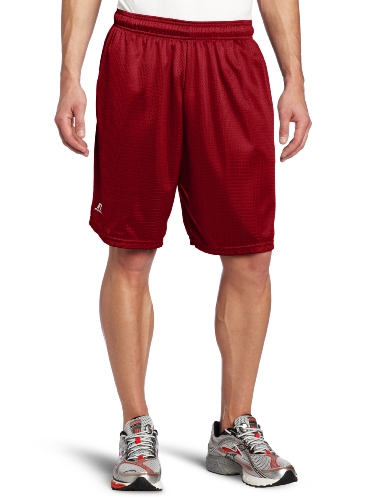 Russell Athletic Men's Mesh Short with Pockets, Cardinal, -