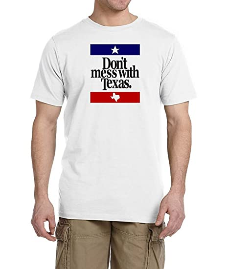 f6c79817 Don't Mess With Texas White Cotton T-Shirt, Texas Pride Souvenir ...