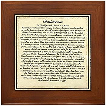 Amazon Com Cafepress Desiderata Framed Tile