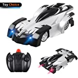 Kids Toy Remote Control Car, Letsfunny Wall Climbing Car for Boys and Girls, Intelligent 360 Rotating Stunt RC Car with Head and Rear LED Light