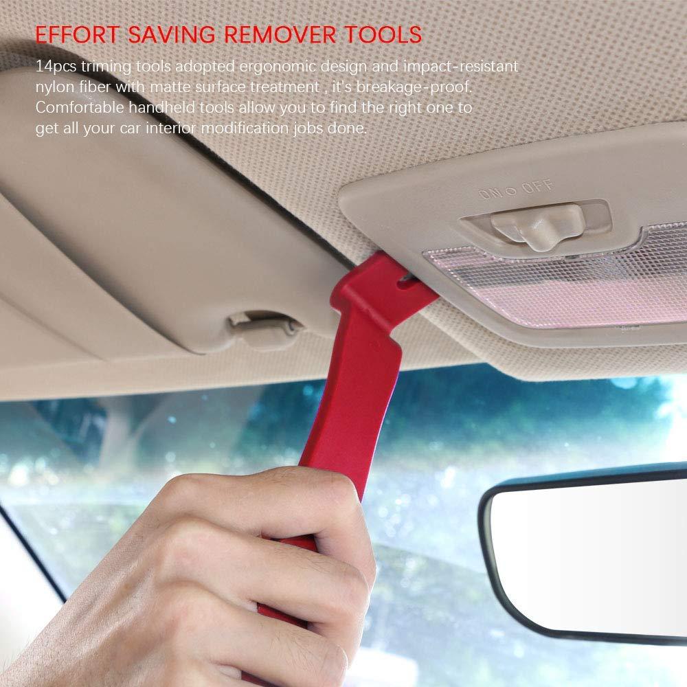 per Auto Porta Pannello Radio Removal Tool 27PCS Nylon Smontaggio Attrezzi Auto Trim Rimozione Installer Riparazione Auto Pry Strumento Attrezzi flintronic Strumento di Rimozione Auto Rosso