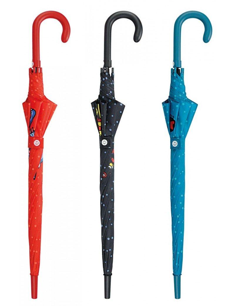 Paraguas Largo Automático - Kukuxumusu - Color: Azul: Amazon.es: Electrónica
